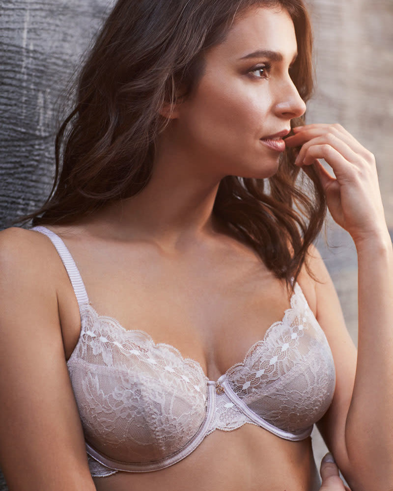 LE MYSTERE Light Luxury Cut & Sew Lace Underwire Bra - Shell