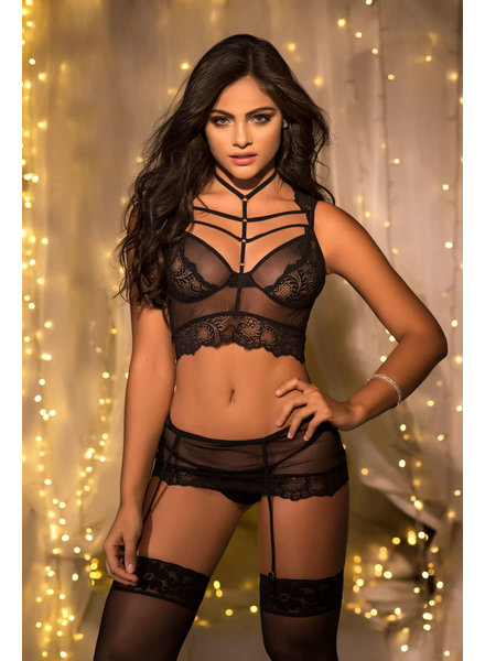 Caged Garter Set