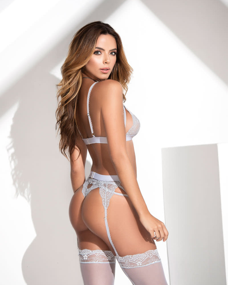 Vivian Bra Set - Gray