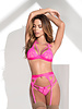 Mapale Vivian Bra Set - Hot Pink
