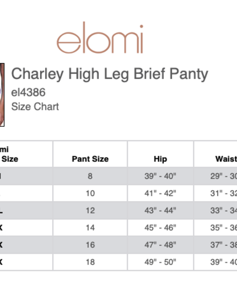 Elomi Elomi Charley High Leg Brief Panty