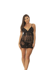 Emily Embroidered Babydoll Set