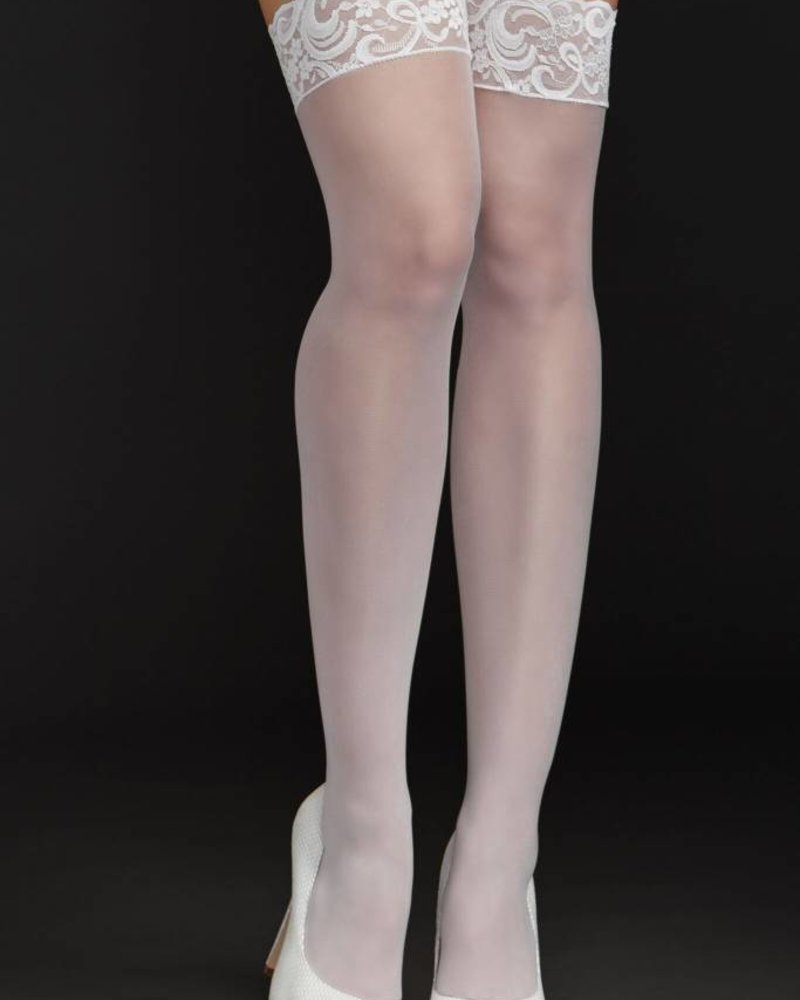 27d682ccdd3 iCollection iCollection Fishnet Thigh Highs w  Lace Top White ...