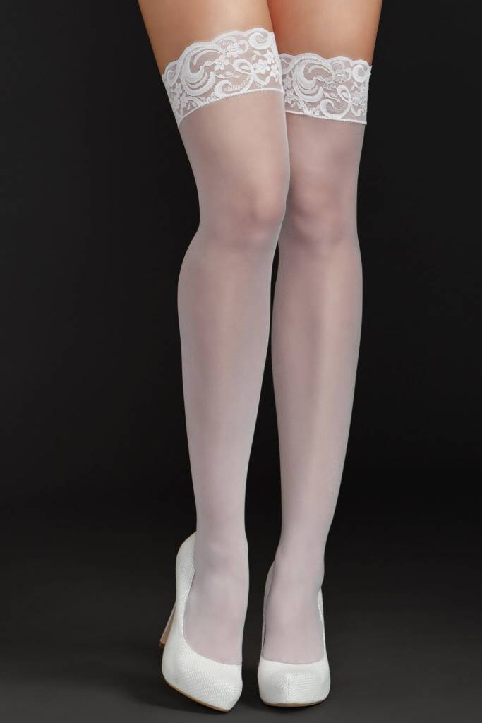 e1b21cff7b8c6e iCollection iCollection Fishnet Thigh Highs w/ Lace Top White ...