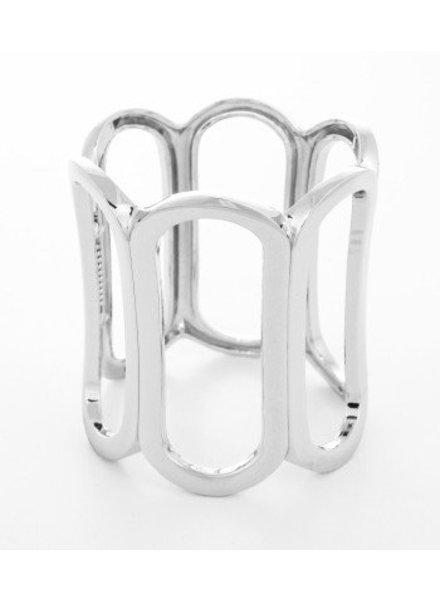 Metal Hinge Bracelet Silver