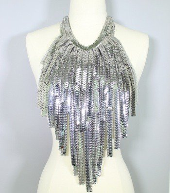 70cdeedbb7f8b Layered Metal Fringe Body Bib Necklace - ANGIE DAVIS