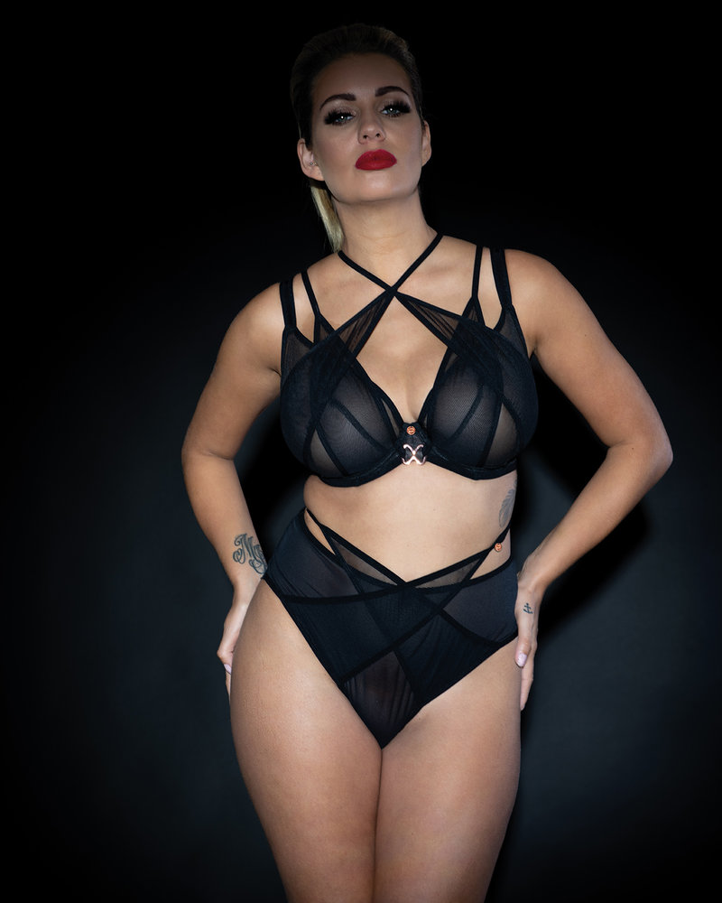 Curvy Kate Curvy Kate Scantilly Black Magic High Waist Brazilian Panty