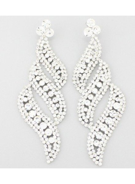 Diva Earrings Clear-Silver