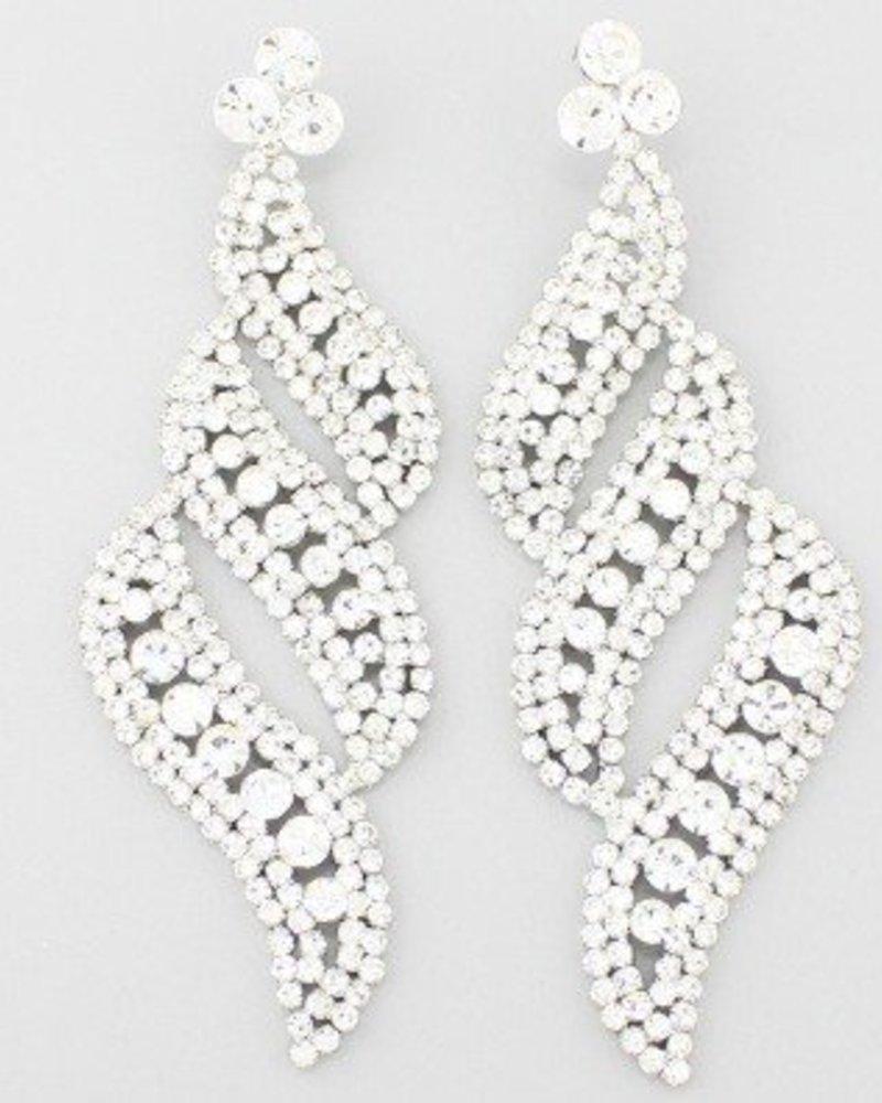 Diva Earrings Clear-Silver