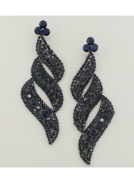 Diva Earrings Navy