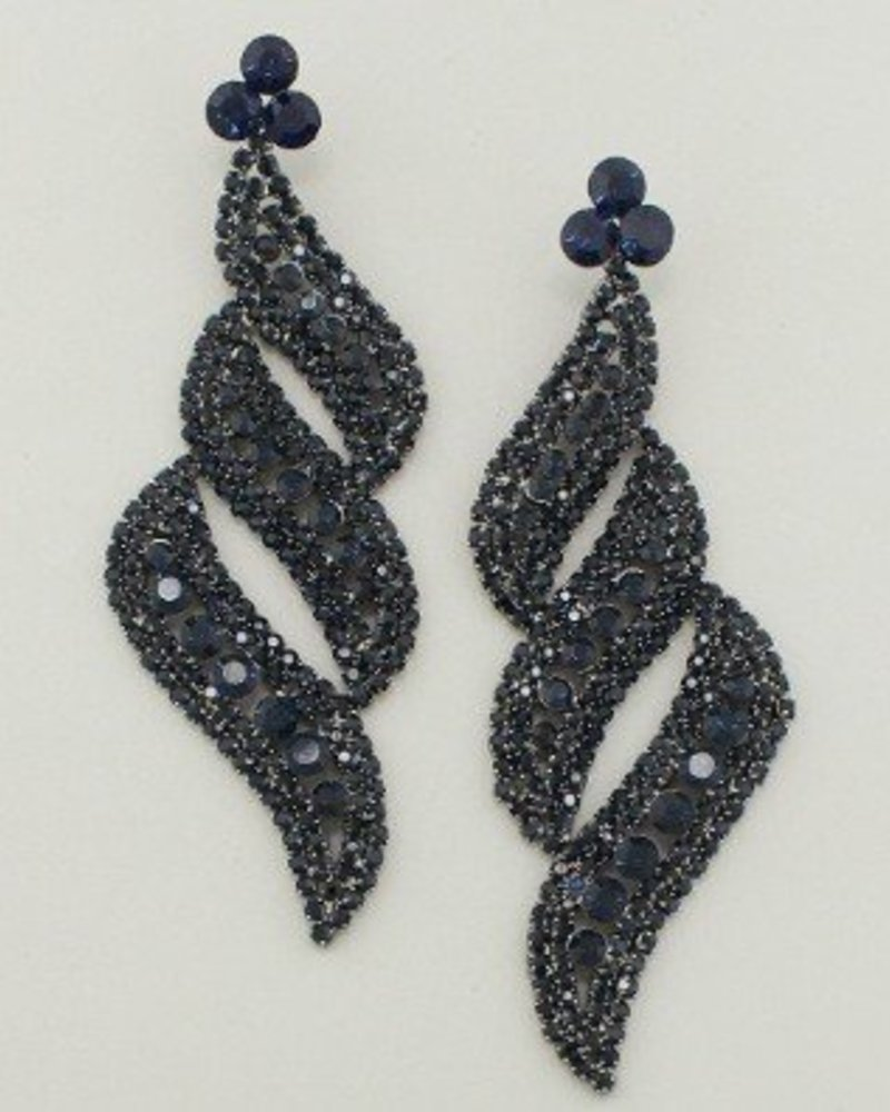 Diva Earrings Navy