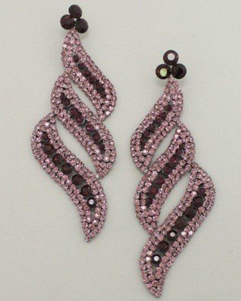 Diva Earrings Purple