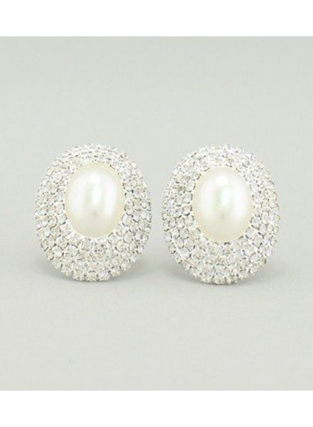 Pearl Earrings White-Silver
