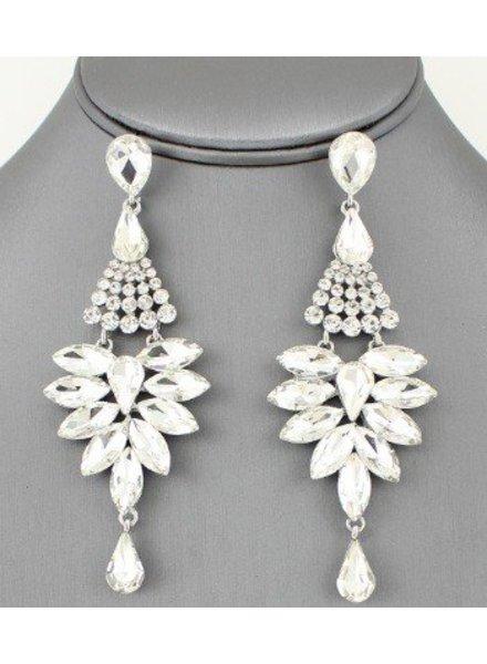 Shourouk Earrings Clear-Silver