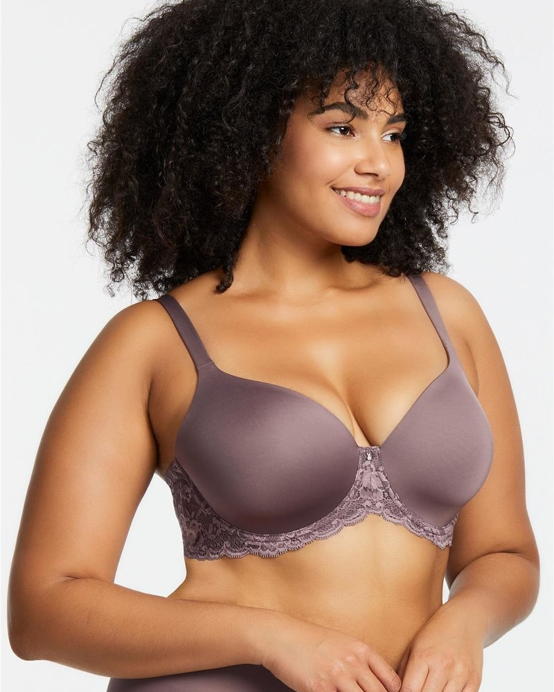 Montelle Essentials Pure Plus Full Cup T-Shirt Bra - Nude, Black, &  Almond Spice