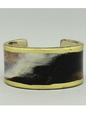 Gilted Resin Cuff Bracelet