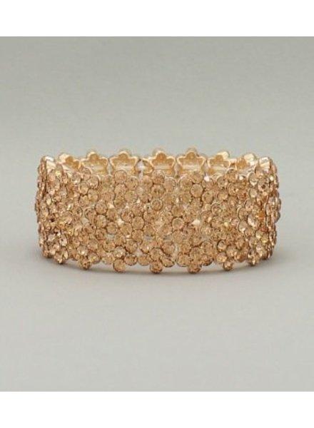 Crystal Bracelet Peach
