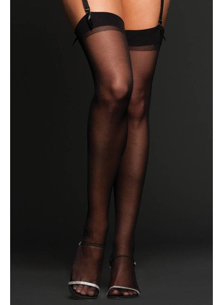 Sheer Thigh Highs Black