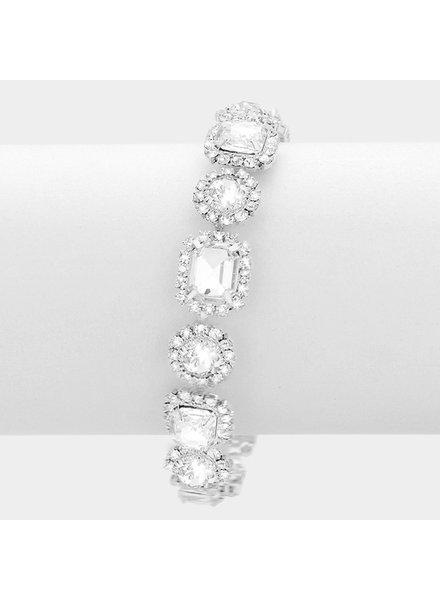 Rhinestone & Crystal Evening Bracelet