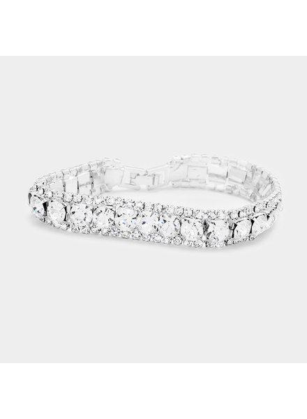 Marquise Crystal Trim Evening Bracelet