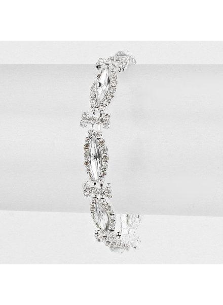 Marquise Rhinestone  Evening Bracelet