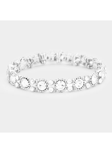 Round Crystal  Evening Bracelet