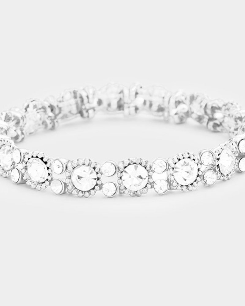 Round Crystal  Evening Bracelet