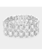 Crystal  Trim Evening Bracelet