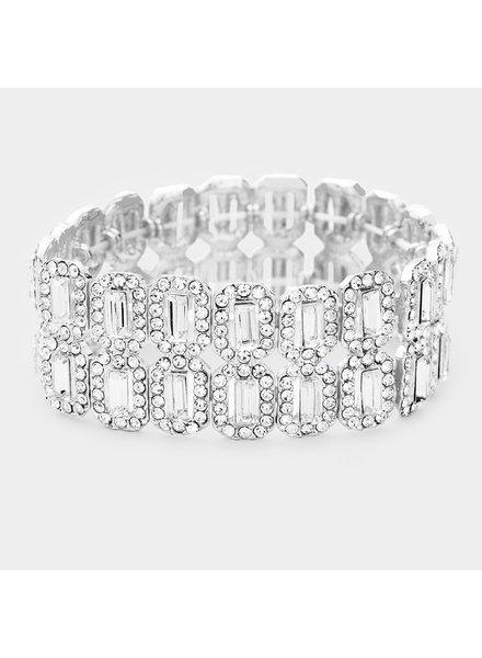 Crystal  Trim Evening Bracelet