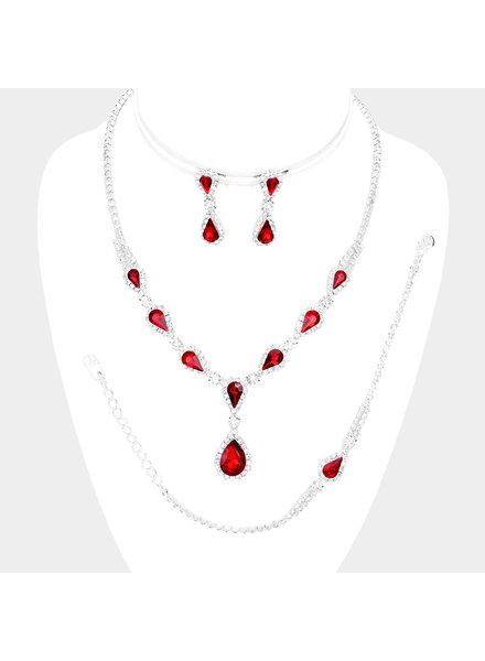 Teardrop Crystal Jewelry Set