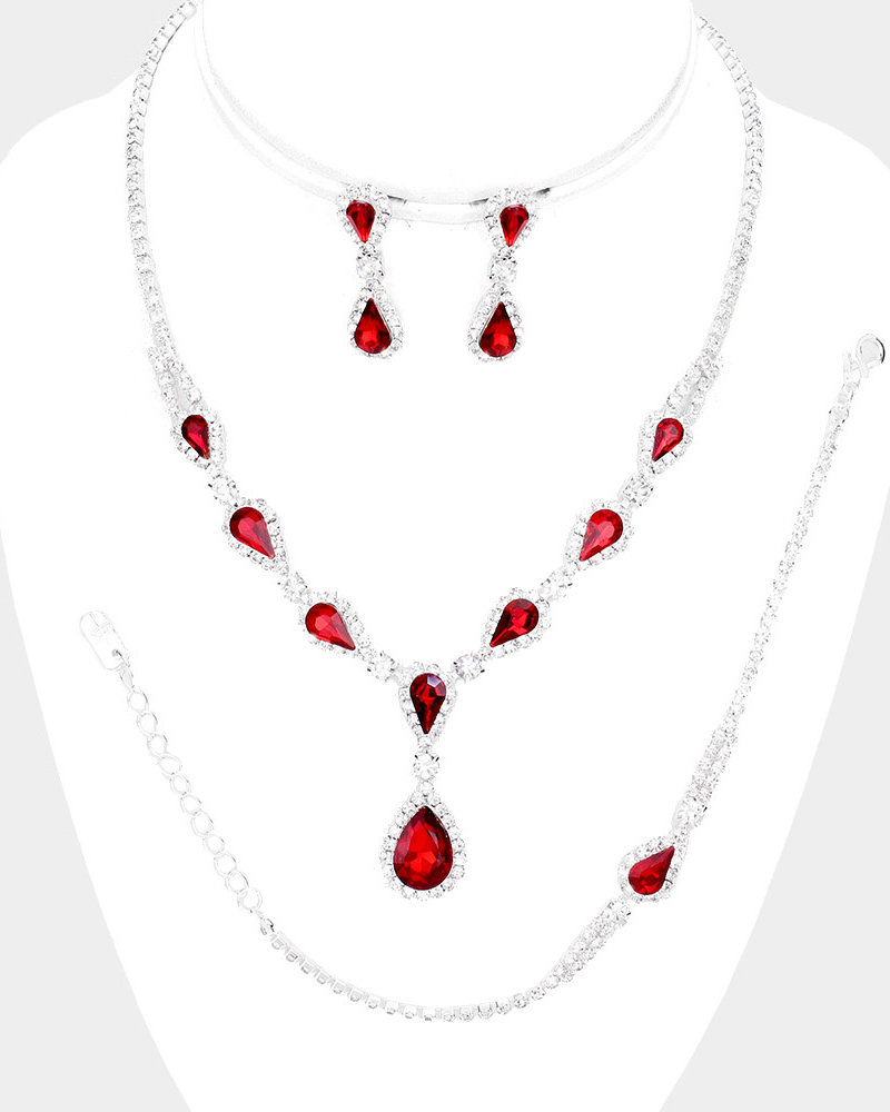 Teardrop Crystal Jewelry Set