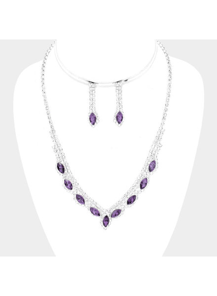 Amethyst Accented Necklace