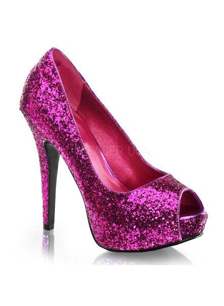 Hot Pink Glitter Heel