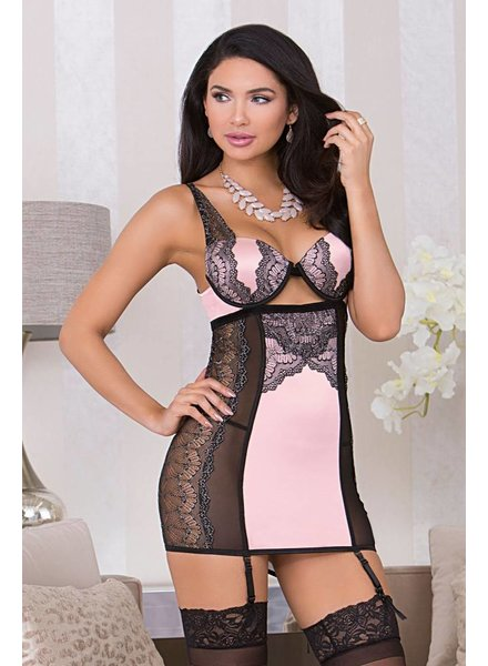 Molded Cup Chemise Pink