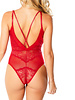 Vanessa Plunging Mesh and Lace Teddy