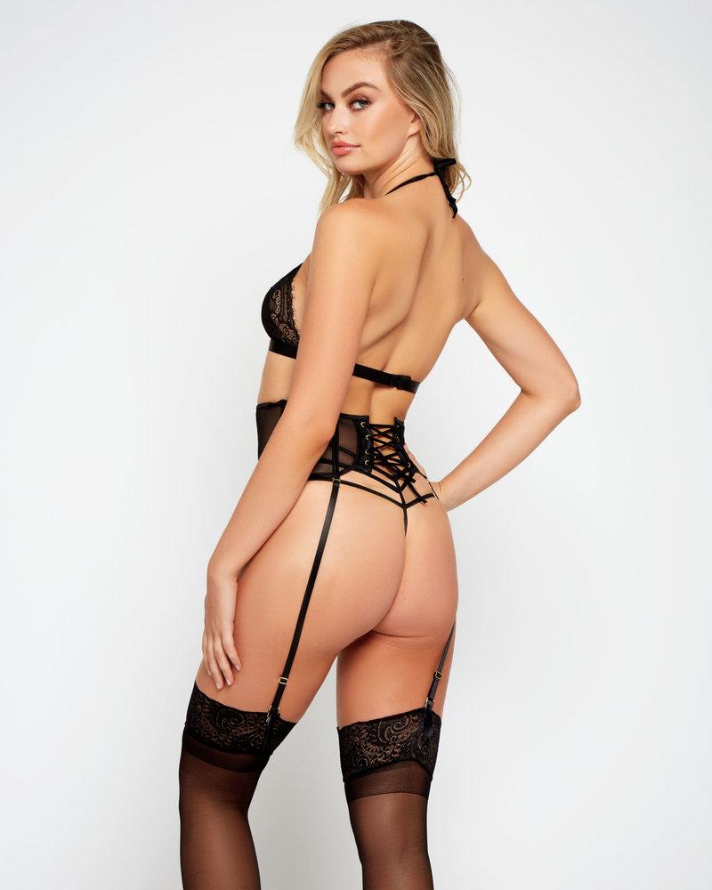 Stacy Lace Up Garter Set