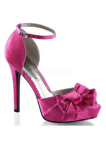 Hot Pink Satin Heel