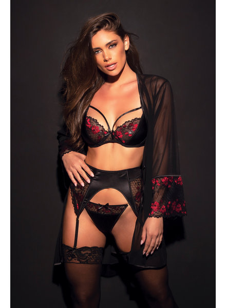 Estella Lace Bra & Garter Set