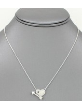Cupids Arrow Pendant Necklace Silver