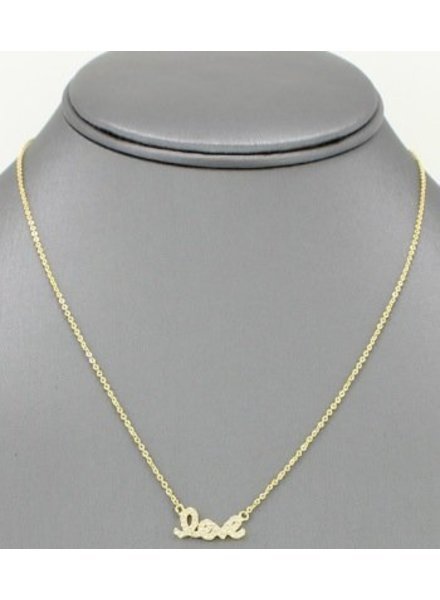 Love Pendant Necklace Gold