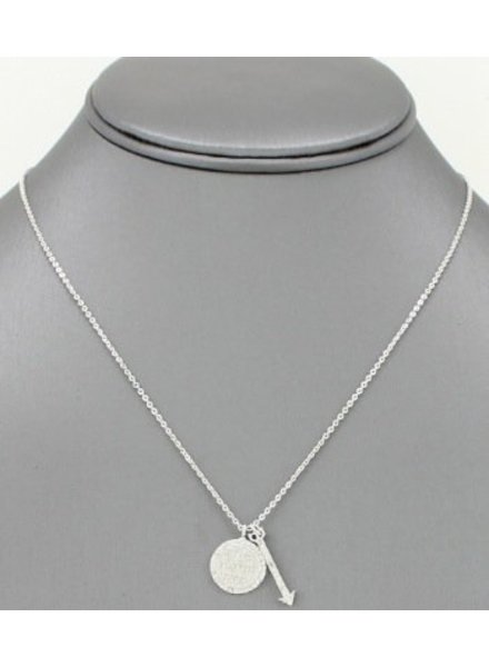 Be Brave Pendant Necklace Silver