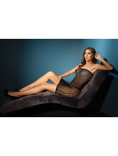 Amaya Fishnet Tube Dress
