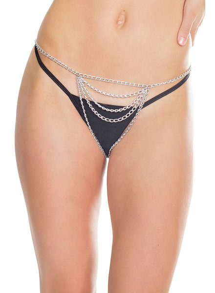 Khloe Crotchless Chain Panty