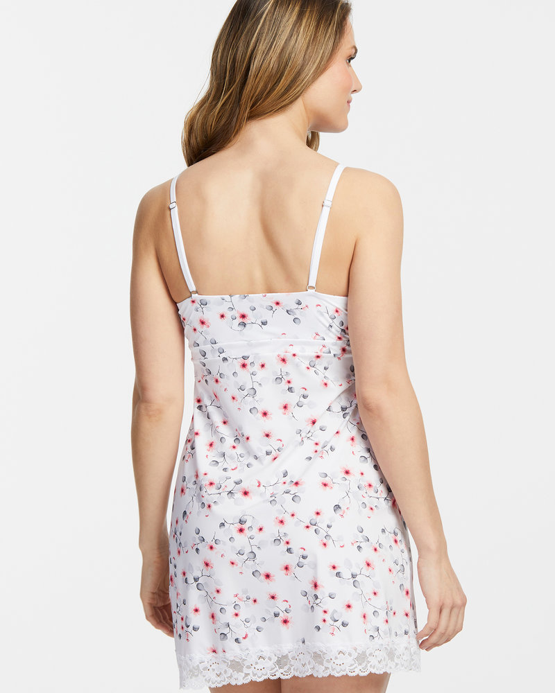 Montelle Montelle Essentials Lace Trim Full Support Chemise - Cherry Blooms