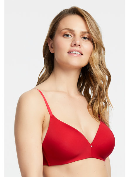 Montelle Montelle Essentials Wire Free T-Shirt Bra - Sweet Red