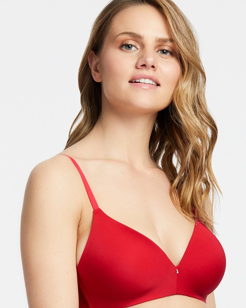 Montelle Montelle Essentials Wire Free T-Shirt Bra - Sweet Red