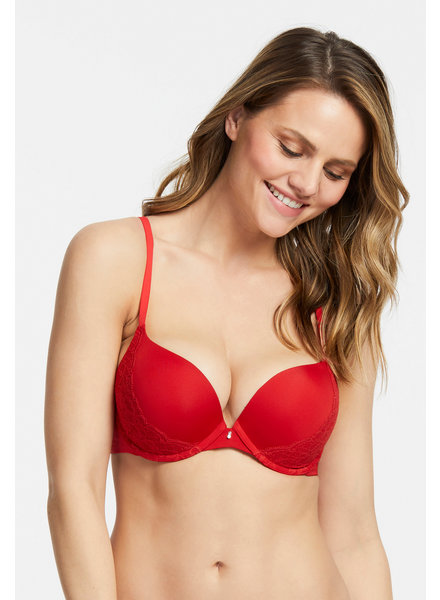 Montelle Montelle Essentials Allure Light Push Up Bra - Sweet Red