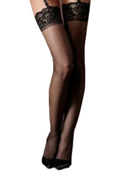 Black Thigh Highs with Lace