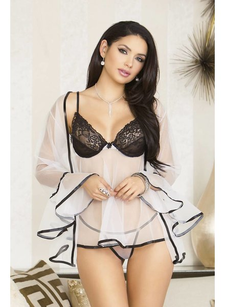Sheer Babydoll with Robe