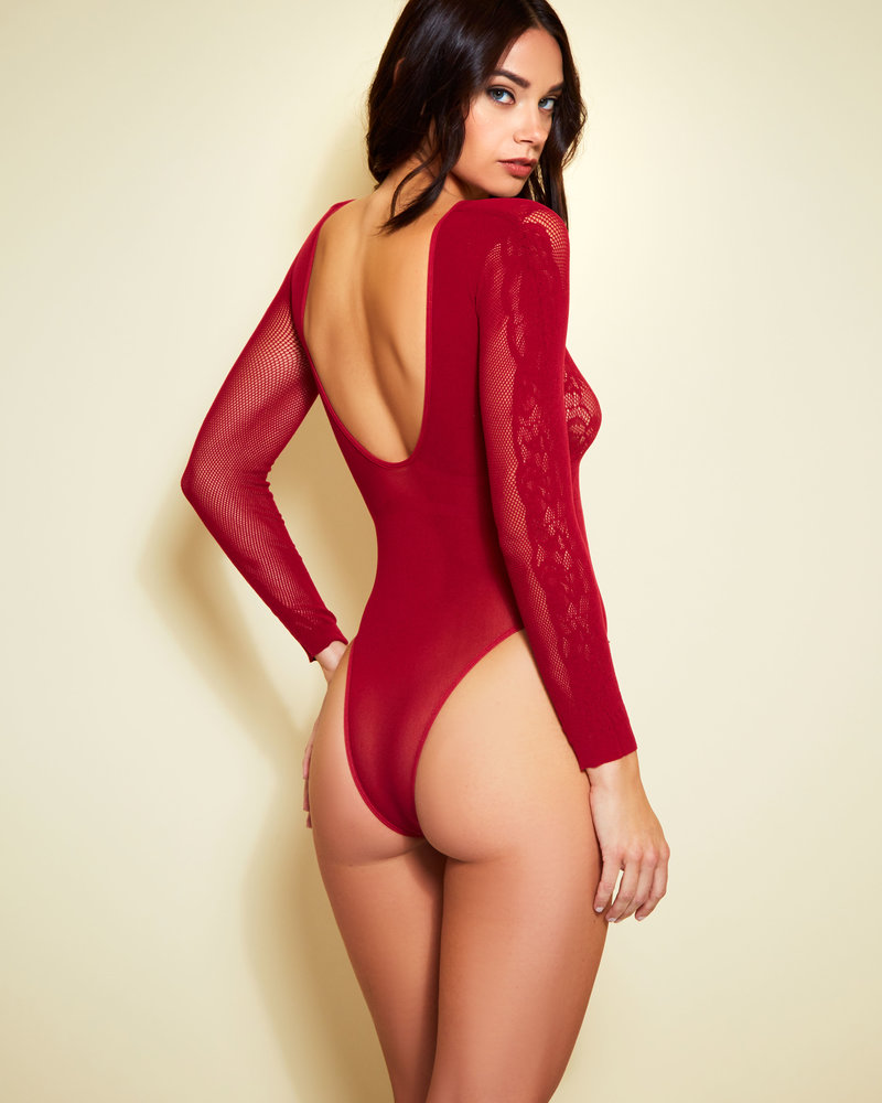 Kamila Burgundy Teddy